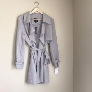 NWT The Limited Silver Large Trench Coat